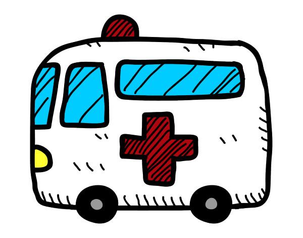 Dibujo de Ambulancia cruz roja pintado por Jokoo en Dibujosnet el