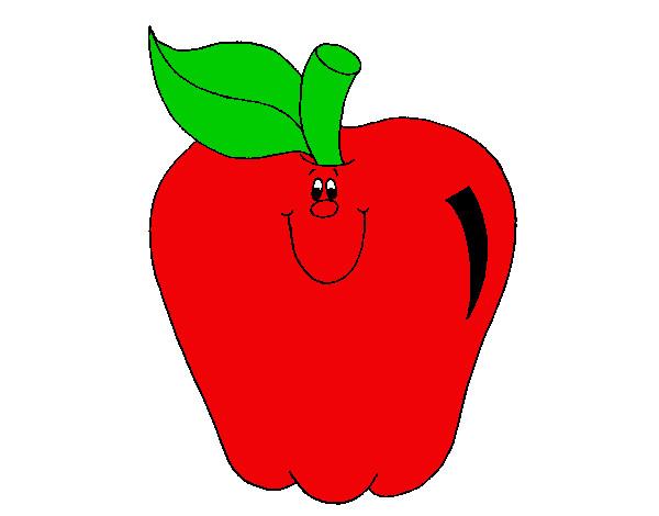 Dibujo de Manzana 1 pintado por Jehfauyfgk en Dibujos.net ...