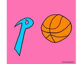 Dibujo Pelota pintado por basketpa