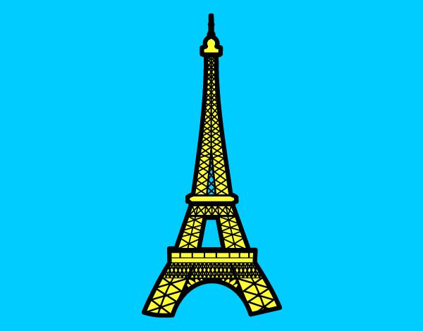 Torre Eiffel Dibujo Animado A Color: Imagenes De La Torre Eiffel Facil Para Dibujar
