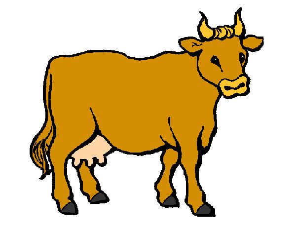 Gallos Coloridos Dibujos Animados: Dibujo De Vaca 3 Pintado Por Valeriafer En Dibujos.net El