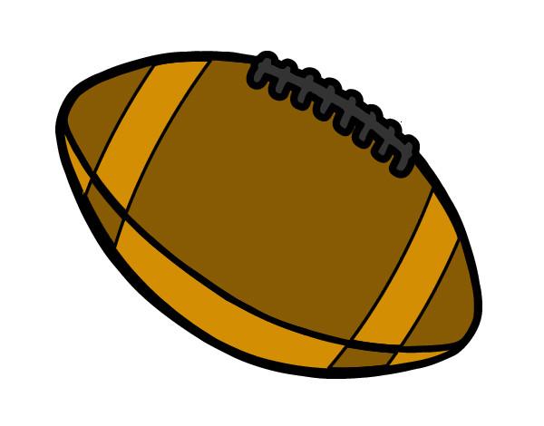 Dibujo De Jugador De Fútbol Con Balón Pintado Por En: Dibujo De Balón De Fútbol Americano Pintado Por