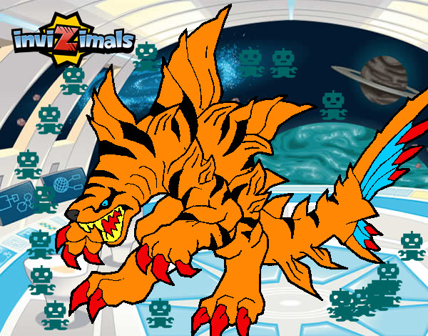 Dibujo de tigershark pintado por thundder en el d a 01 02 14 a las 02 34 47 imprime - Tigershark invizimals ...