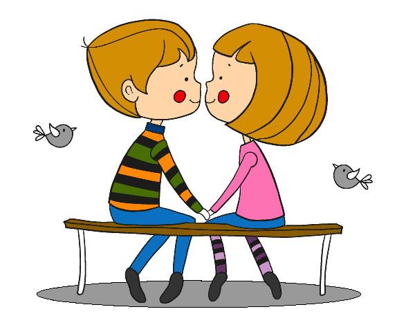 Dibujo de Jvenes enamorados pintado por Carlyguay en Dibujosnet