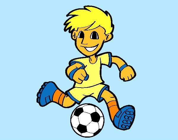 Dibujo De Jugador De Fútbol Con Balón Pintado Por Chicoxd: Dibujo De Axel Pintado Por Saraab10 En Dibujos.net El Día