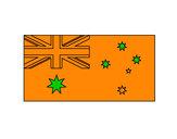 Dibujo Australia pintado por elihu