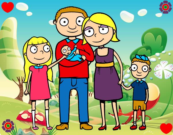 Dibujo de familia unida pintado por roca12 en for Familia roca