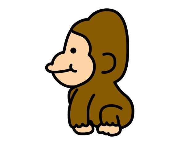 Dibujo De Gorila Bebé Pintado Por Aren En Dibujosnet El Día 24 02