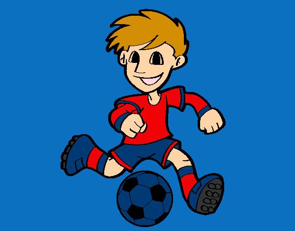 Dibujo De Jugador De Fútbol Con Balón Pintado Por Chicoxd: Dibujo De Jugador De Fútbol Con Balón Pintado Por Amalia