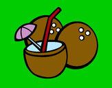 Dibujo Cóctel de coco pintado por james_9