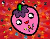 Dibujo Fresa feliz pintado por sofia30355