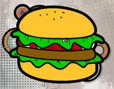 Dibujo Hamburguesa con lechuga pintado por james_9