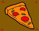 Dibujo Ración de pizza pintado por sarav