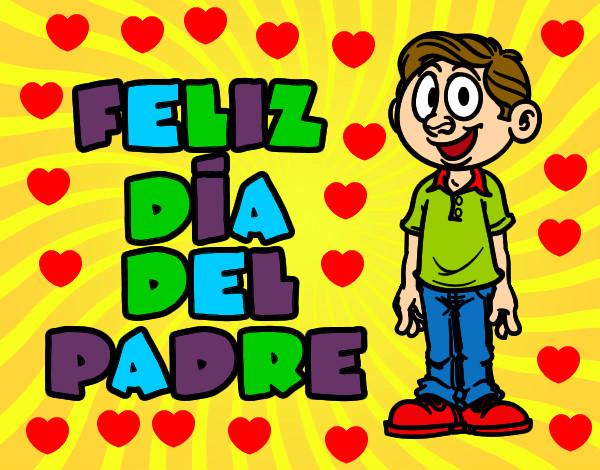 Dibujos Del Dia Del Padre Coloreados: Dibujo De Feliz Día Del Padre Pintado Por Amina555 En