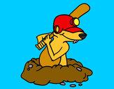 Dibujo Topo bateador pintado por xepicmen