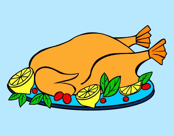 Dibujo de Pollo Asado pintado por Saritita en Dibujos.net el día ...