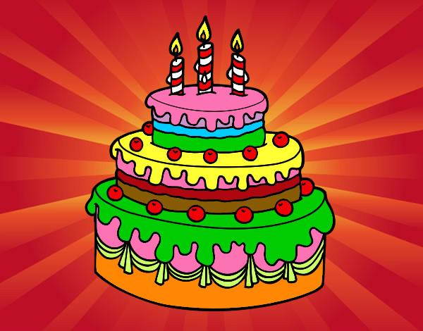 Dibujo de Tarta de cumpleaños pintado por 2005mrl7 en ...