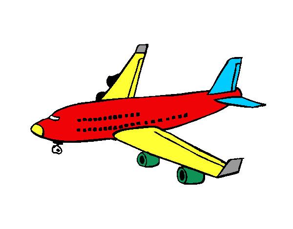 Dibujo De Avión De Pasajeros Pintado Por 46252414 En Dibujosnet El