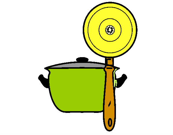Dibujo de utensilios de cocina pintado por joaquin li en for Utensilios para cocineros