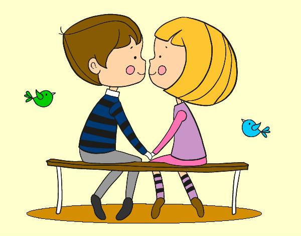 Dibujo de Jóvenes enamorados pintado por Fanny91 en