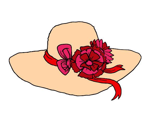 Dibujo de Sombrero con flores pintado por Kate08 en Dibujosnet el