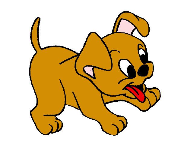 Dibujo de perrito jugueton pintado por Mikulove1 en Dibujosnet el