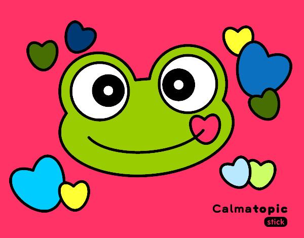 Dibujo De Rana Calmatopic Amor Pintado Por Lorenavila En
