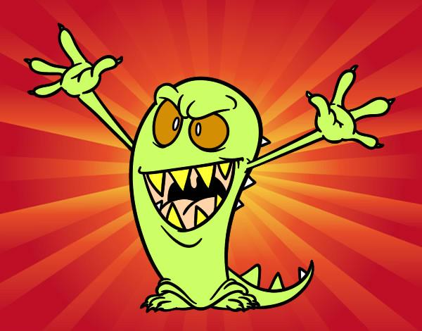 Dibujo De Monstruo Malo Para Colorear: Dibujo De Monstruo Malo Pintado Por Cristian_3 En Dibujos