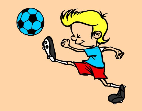 Dibujo De Jugador De Fútbol Con Balón Pintado Por Chicoxd: Dibujo De Jugador Chutando Pintado Por Santiagoc En