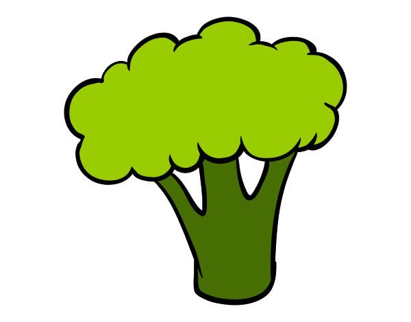 Dibujo De Trozo De Brócoli Pintado Por Lapiz En Dibujos