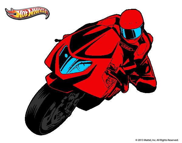 Dibujo De Una Moto De Repsol Gano La Carrera Pintado Por Estan En