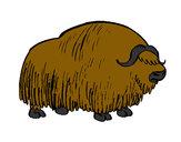 Dibujo Bisonte 1 pintado por Chisp0540