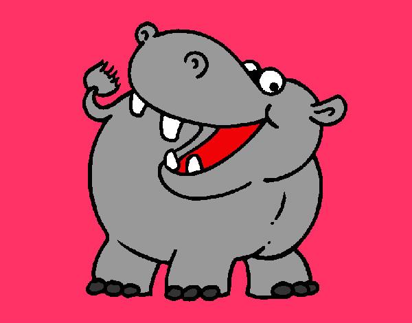 Dibujo de Hipopótamo pintado por Caryto en Dibujos.net el día 07 ...