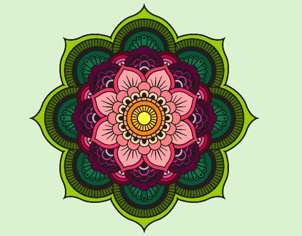 Dibujo de flor de loto pintado por Elisaseya en Dibujosnet el da