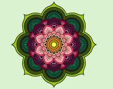 Dibujo Mandala flor oriental pintado por Elisaseya