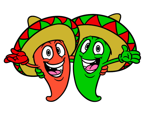 Dibujo de Pimientos mexicanos pintado por Samara11 en ...