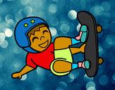 Dibujo Salto con monopatín pintado por LuChu