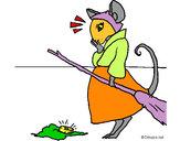 Dibujo La ratita presumida 2 pintado por olivaoliva