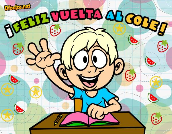 Colorear Vuelta Al Cole 15: Dibujo De Feliz Vuelta Al Cole Pintado Por Gemilla12 En