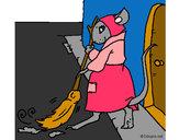 Dibujo La ratita presumida 1 pintado por ABI27