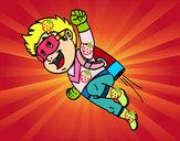 Dibujo Héroe volando pintado por da12306