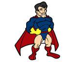 Dibujo Superhéroe musculado pintado por natygm24