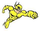 Dibujo Superhéroe sin capa pintado por natygm24
