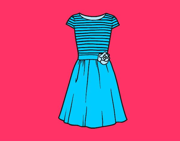 Vestidos Casuales Para Colorear