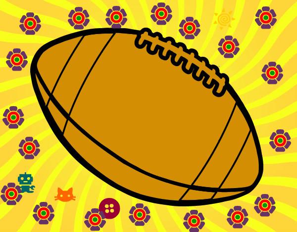 Dibujo De Jugador De Fútbol Con Balón Pintado Por Chicoxd: Dibujo De Balón De Fútbol Americano Pintado Por Emoto En