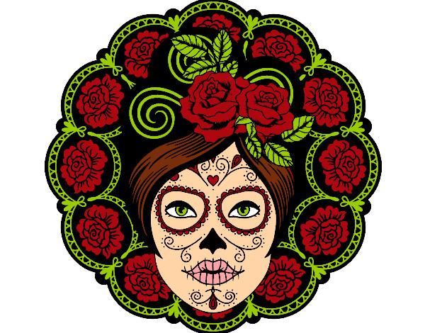 Dibujo de Calavera mexicana femenina pintado por Elisanche7 en