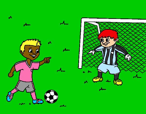 Dibujos De Porteros De Futbol Stunning Futbol Dibujo: Dibujo De Portero De Fútbol Pintado Por Miunis En Dibujos