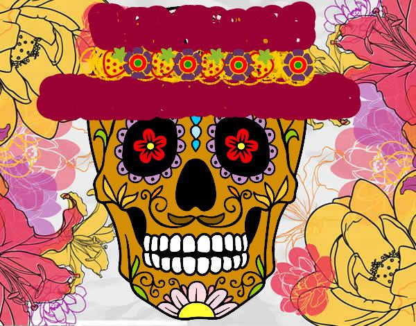 Dibujo Calavera Mexicana Pintado Por Magnus