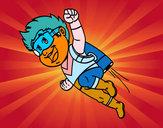Dibujo Héroe volando pintado por JIMENAMEJI
