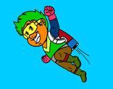 Dibujo Héroe volando pintado por Jesanvaz